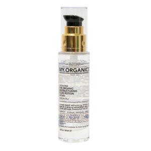 MY.ORGANICS THE ORGANIC RESTRUCTURING FLUID POTION – Organikus hajszerkezet helyreállító szérum – VEGÁN termék