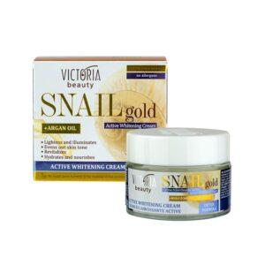 VICTORIA BEAUTY SNAIL GOLD WHITENING FACE CREAM + ARGAN OIL – Halványító krém argánolajjal